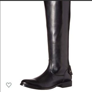 Frye Melissa Button zip back boot